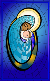 mary stain glass